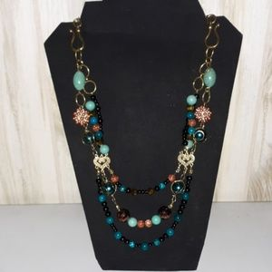 Jewelry - Hand beaded multi twist strand necklace